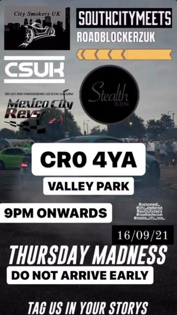 Instagram advert for Valley Park car racing