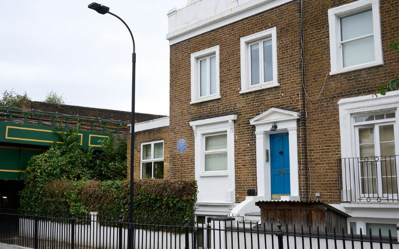 Photo of the house where Ellen and William Craft's plaque has been placed