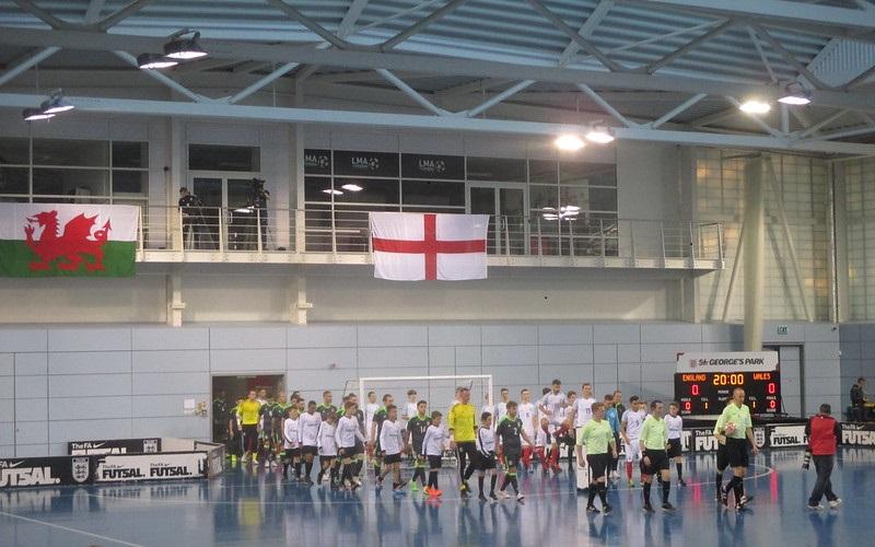 Futsal match England vs Wales