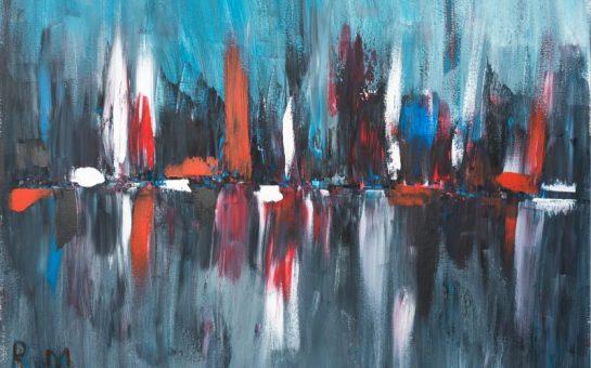 Radhia Murad's painting reflection