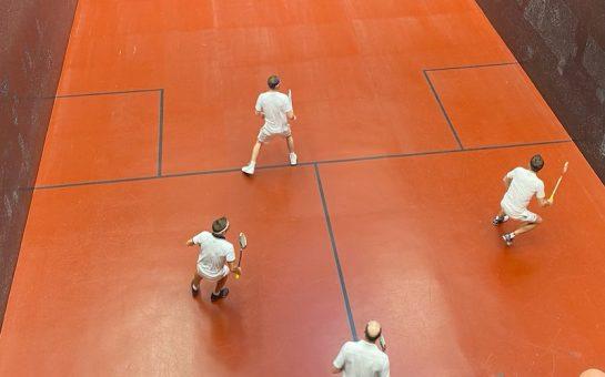 Rackets doubles match