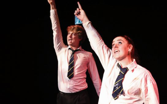 Georgie Halford and Roel Fox in Epic Love and Pop Songs