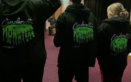 Hoodies with the Cinderella Meets the Monsters logo