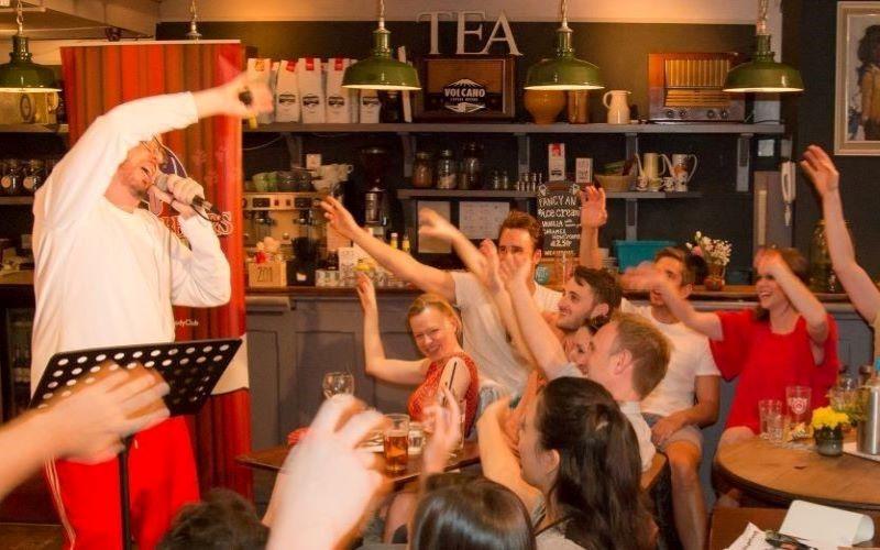 Streatham festival goers enjoy a music performance