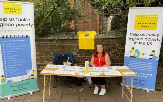 Volunteer Claire at last month's High Tid eFestival