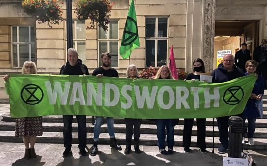 XR Wandsworth members outside Wandsworth Town Hall